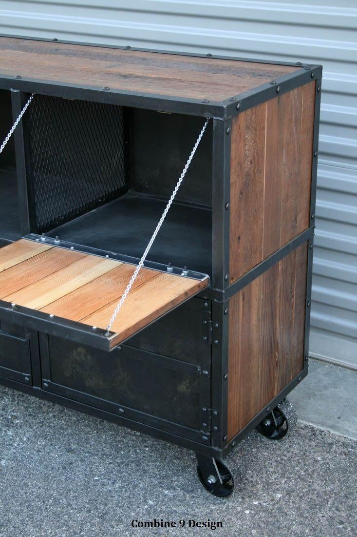 Buy A Custom Made Bar Cart Liquor Cabinet Vintage
