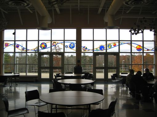 Custom Made Stained Glass Windows - Wave Cafe