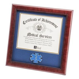 Custom Made Ems Medallion Frame For 8x10 Certificate Frame