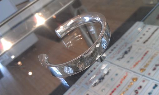 Custom Made Bracelet D Cross Section Solid Silver...