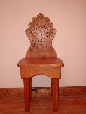 Custom Made Entry Chair, Decorative Chair, Peacock Chair