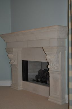 Custom Made Cast Stone Fireplace Mantel Surround