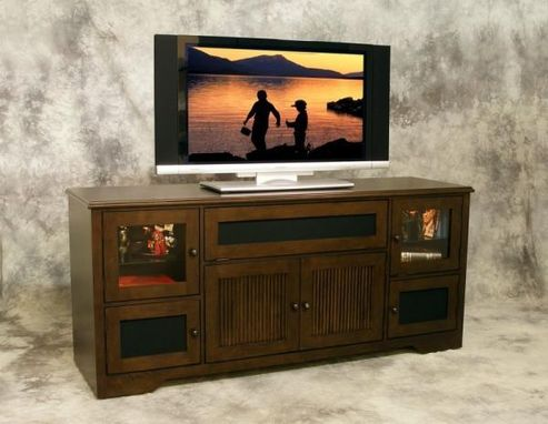 Custom Made Plasma Tv Credenza With Back Wall