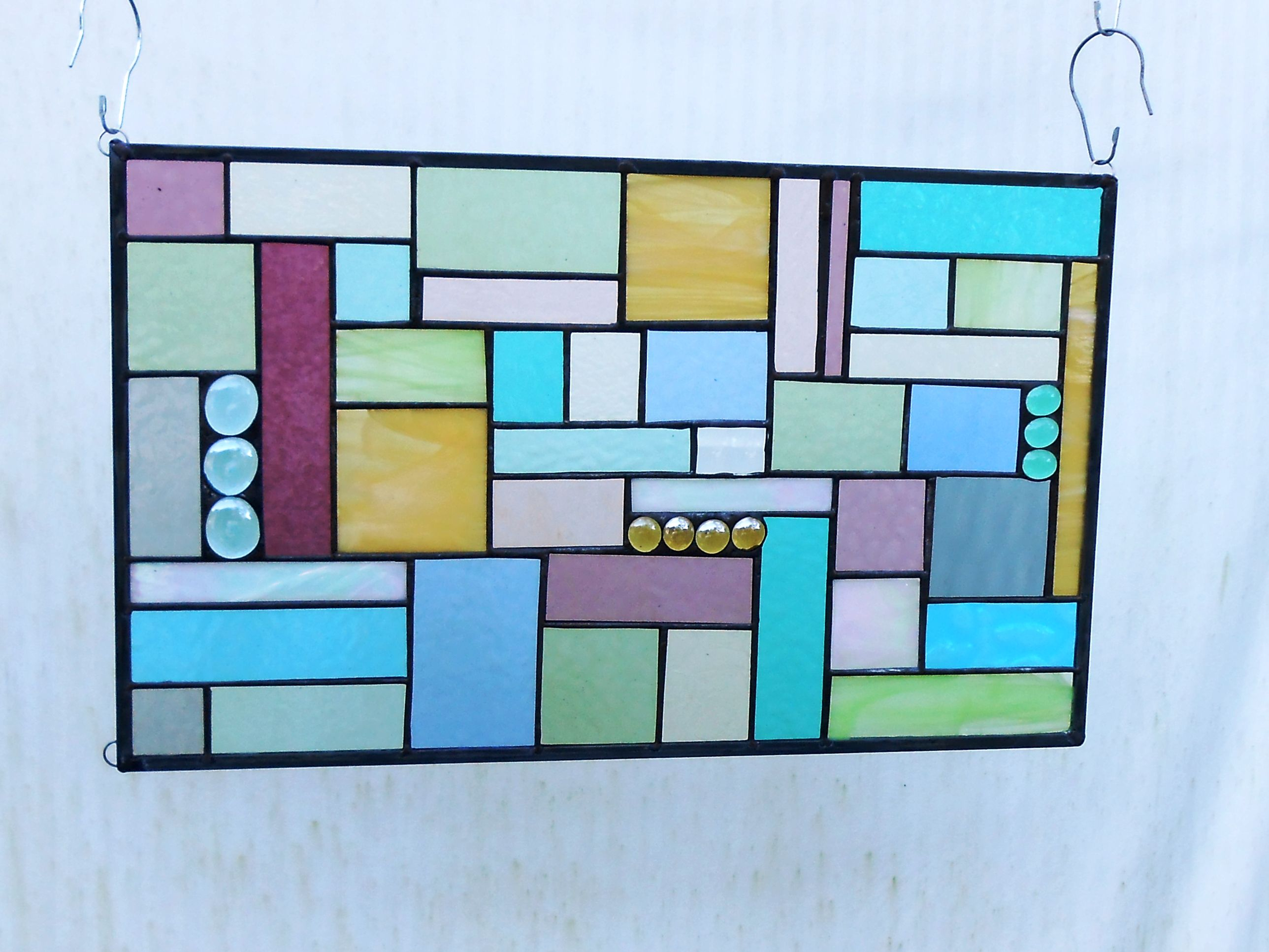 Buy a Custom Stained Glass Panel Patchwork Quilt Window Valance ...