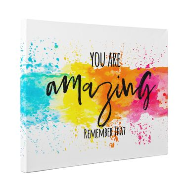 Custom Made You Are Amazing Remember That Motivational Canvas Wall Art