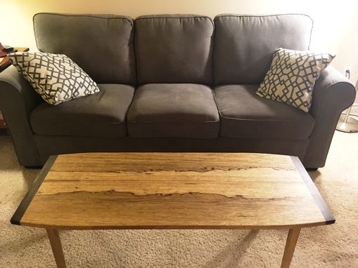 "Custom Made Celia's Black Limba ""Mittens And Slippers"" Coffee Table"