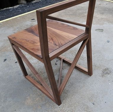 Custom Made Asymmetric Low Back Dining Chair