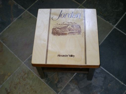 Custom Made Jordan Wine Crate Stepping Stool