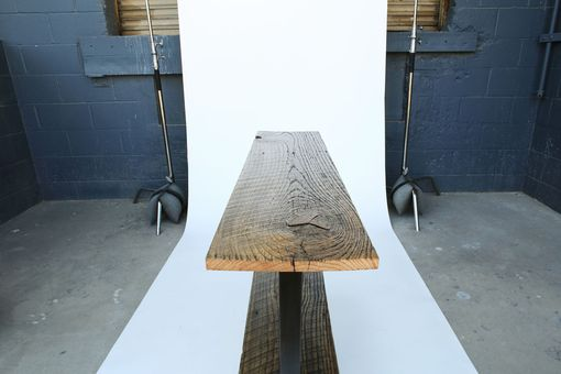 Custom Made Reclaimed Barnwood Oak Console Table