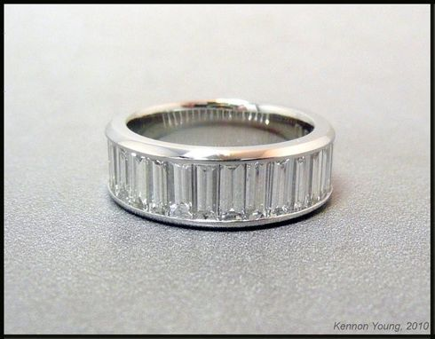 Custom Made Platinum Diamond Channel Band
