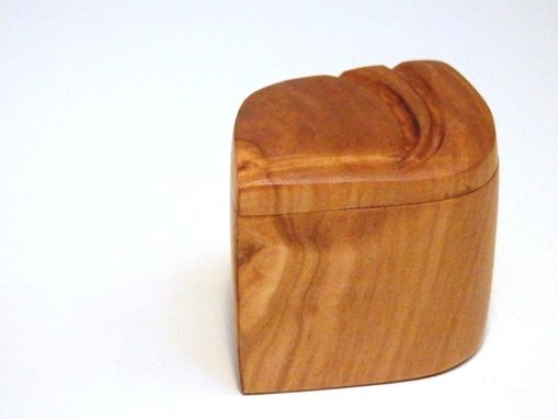 Custom Made Sunshine Ring Box Handcarved Olive Wood