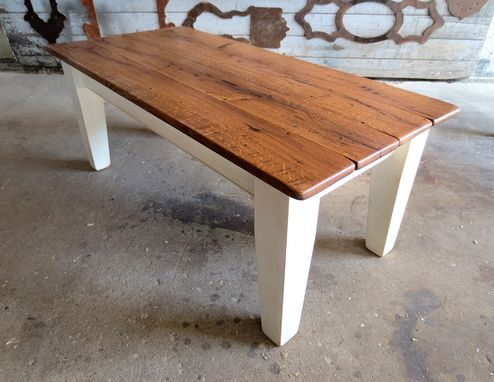 Custom Made Barn Oak Coffee & End Table