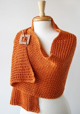 Custom Made Elegant Hand-Knit Shawl / Wrap - Custom Colors And Materials - Fall, Winter Fashion