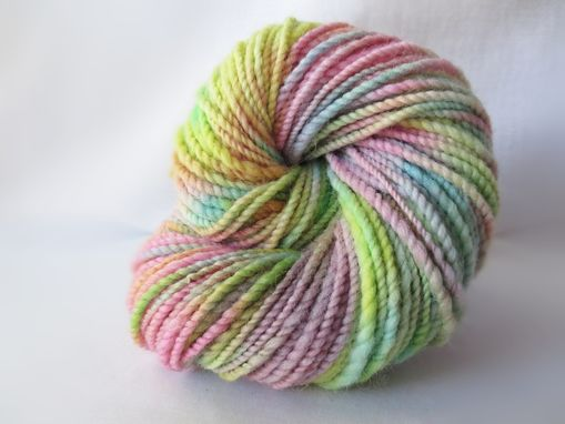 Custom Made Reserved For Slcarty308 Handspun Hand Dyed Variegated Wool Yarn