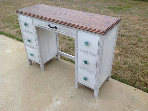 Custom Made Desk With Distressed Finish