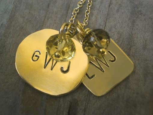 Custom Made 14k Gold Filled Monogram Pendants