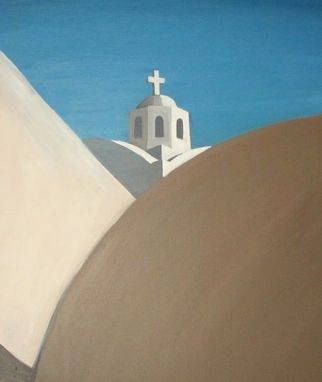 "Custom Made Original Acrylic Painting ""Honeymoon In Greece"""