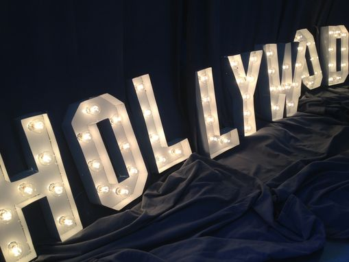 how tall are the hollywood letters crafted sign marquee letter 18 inch 22654
