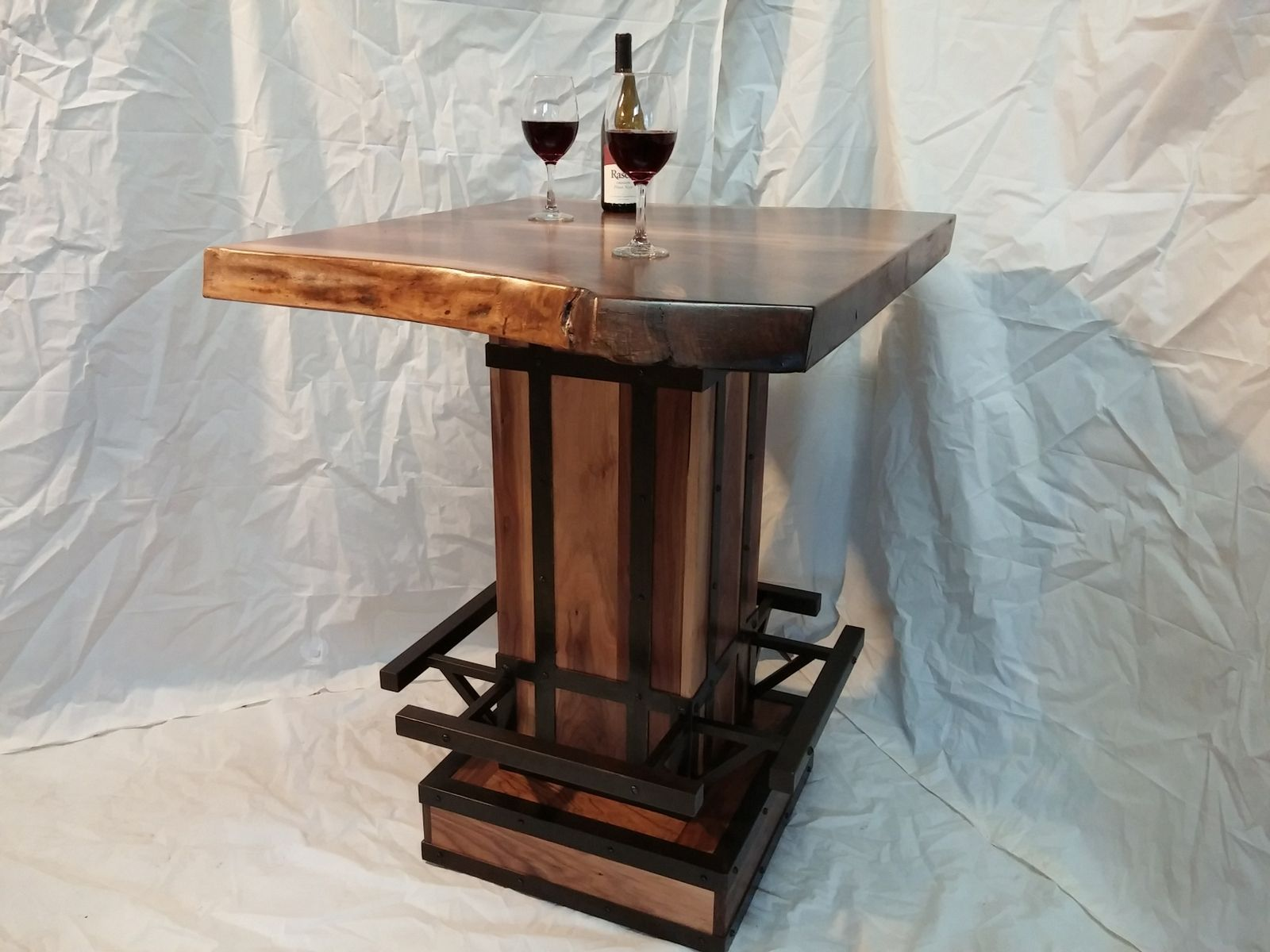 Custom Live Edge Bistro Table By Puddle Town Woodworking