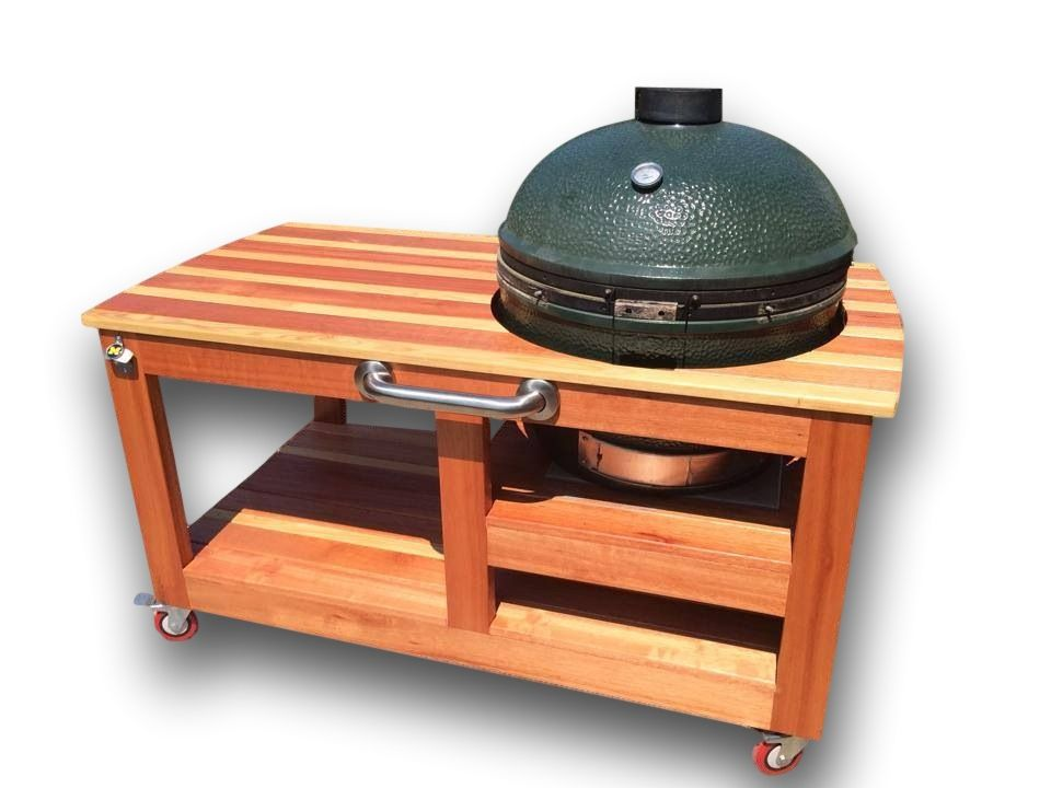 Custom Made Custom Big Green Egg Table. Buy a Hand Made Custom Big Green Egg Table  made to order from