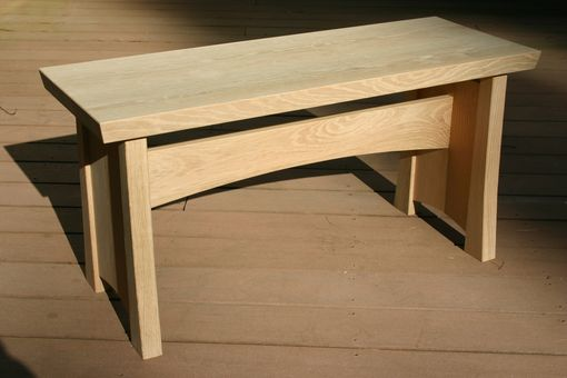 Custom Made White Oak Hall Bench