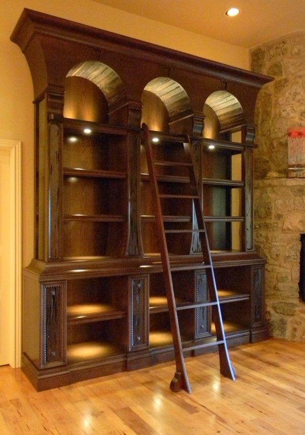 Custom Made Hickory Library