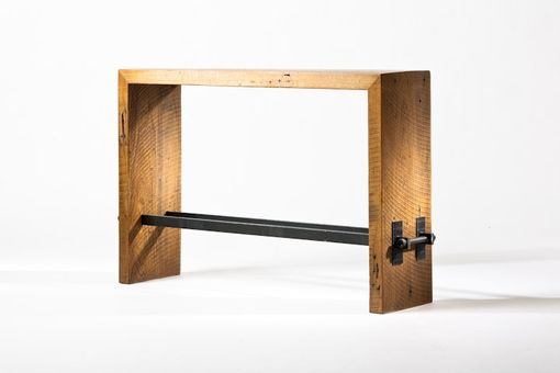 Custom Made Reclaimed White Oak Hall Console Table