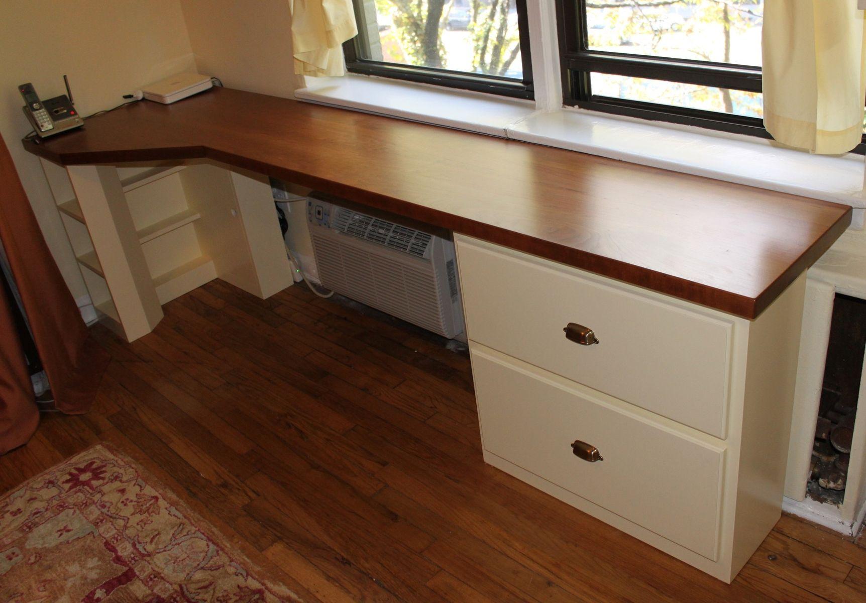 Custom Made Built In Cherry Desk