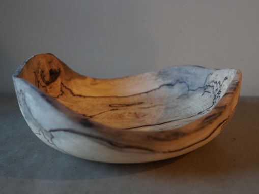 Custom Made Live Edge Spalted Beech Bowl 2/2