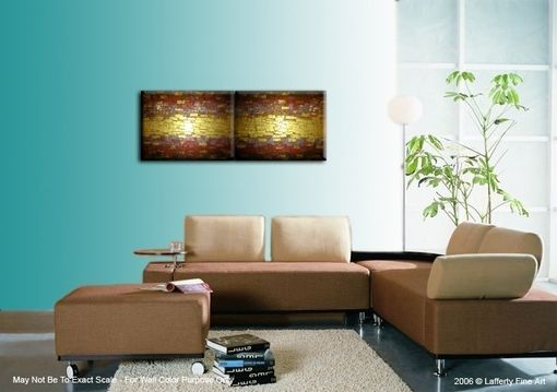 Custom Made Abstract Gold Art, Original Painting, Metallic Textured Paintings, By Lafferty - 18 X 48