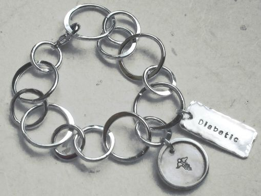 Custom Made Sterling Silver Medical Alert Bangle