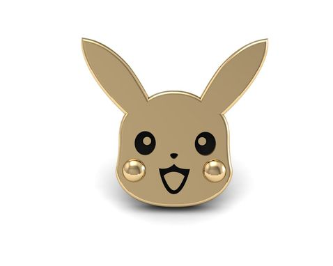 Custom Made Pikachu Stud Earrings In 14k Gold