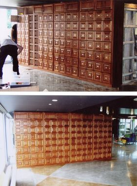 Custom Made Bank Of Cigar Lockers