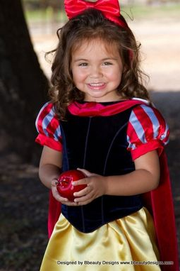 Custom Made Snow White Child Girls Storybook Costume Dress With Cape