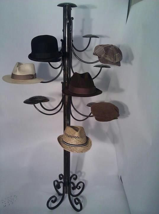 Custom Standing Steampunk Hatrack By Milwaukee Blacksmith