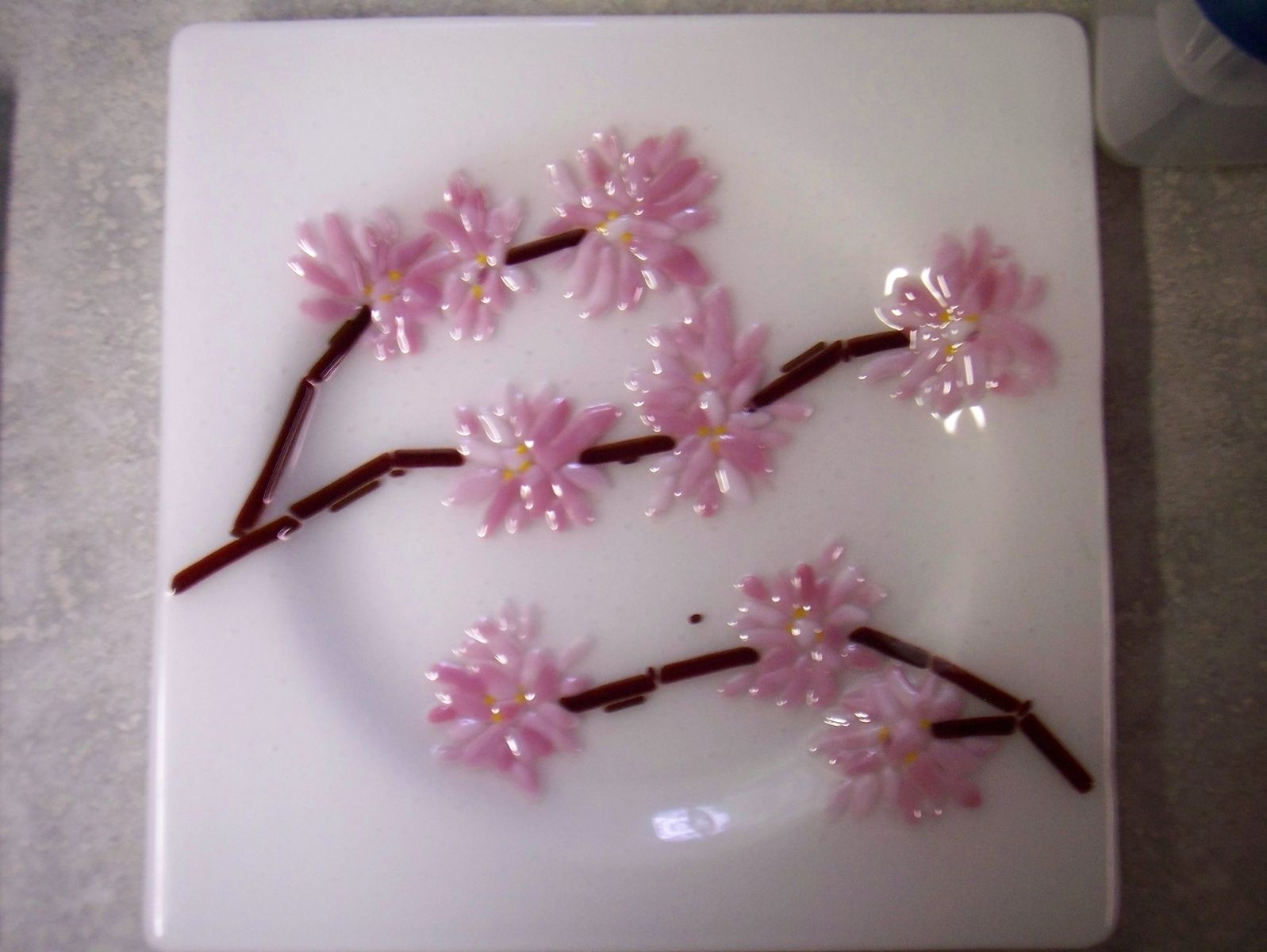 Custom Made Cherry Blossom Plates For Wedding Or Anniversary