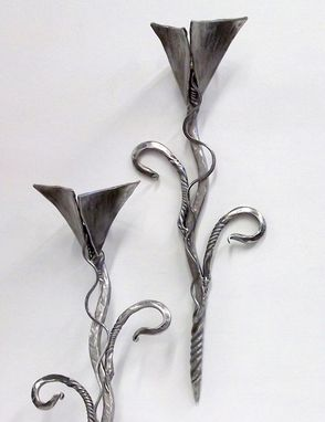 Custom Made Custom Wall Sconces, Steel Candle Holders, Various Option Steel Art
