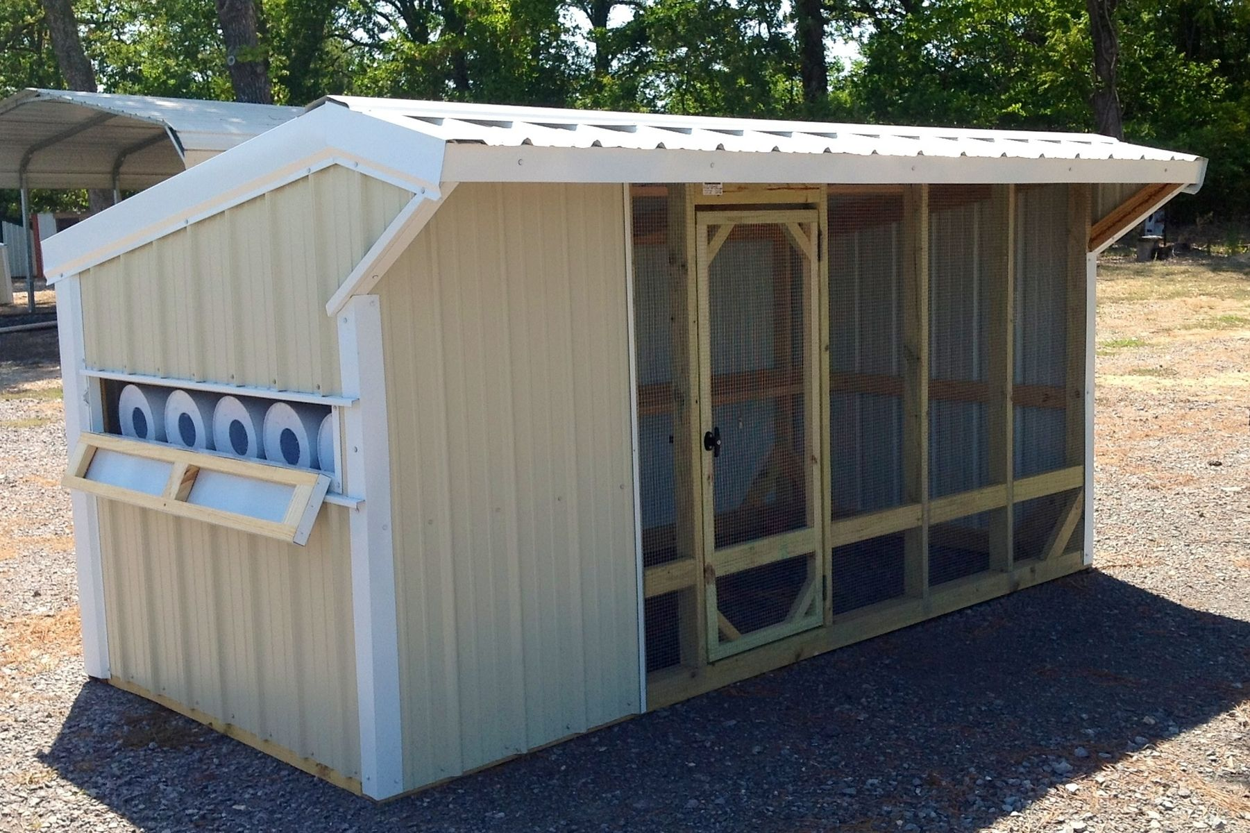 Custom 6x12 Stationary Chicken Coop By Rocky Top Sales