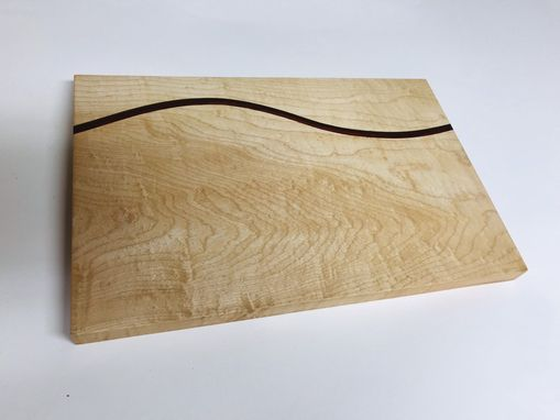 Custom Made Hard Maple Cutting Board With Wave Design