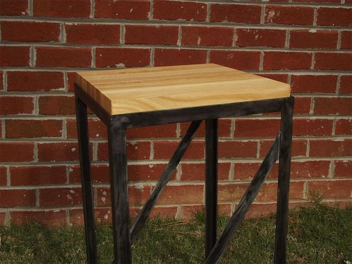 Custom Made Minimalist Butcher Block End Table