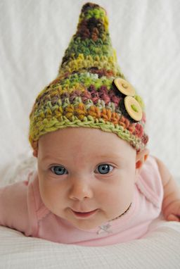 Custom Made Knobby Gnome Crochet Baby Hat
