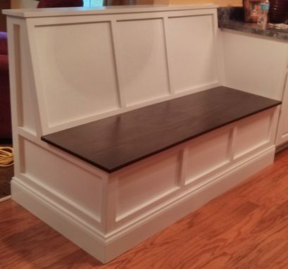 Custom Made Breakfast Room Bench With Stained Top