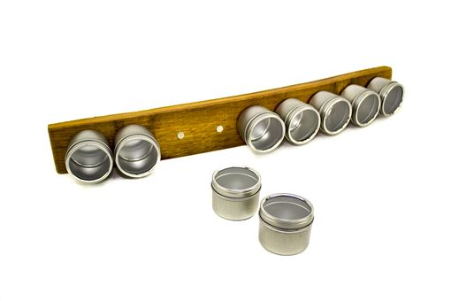 Custom Made Flavor - Wine Barrel Stave Magnetic Spice Rack