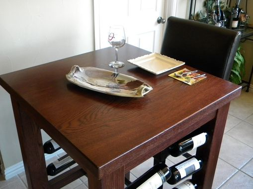 Custom Made Brinkman Pub Table With Wine Storage
