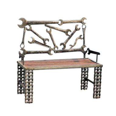 Custom Made Upcycled Bench Made From Tools By Raymond Guest