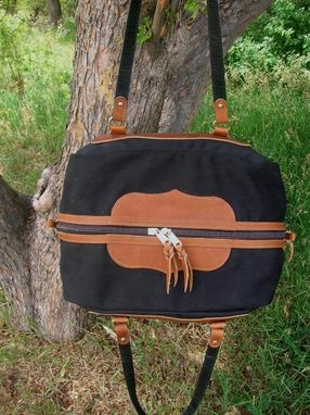 Custom Made Western Overnight Travel Bag - Buffalo Leather