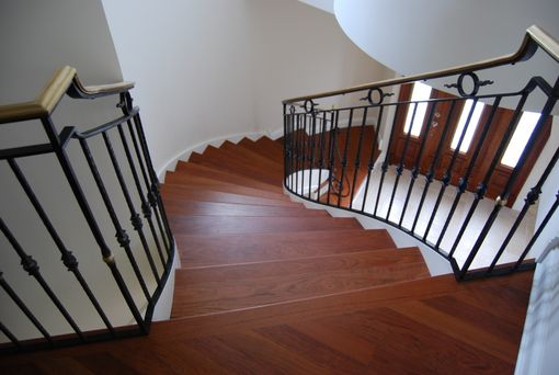 Custom Made Brazilian Cherry Staircase