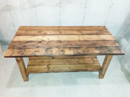 Custom Made Reclaimed Wood Kitchen Island
