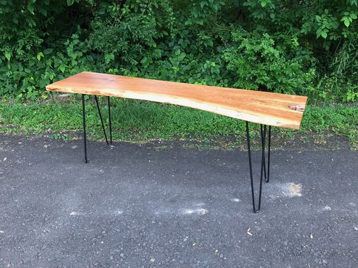 Custom Made Live Edge Cherry Console Table