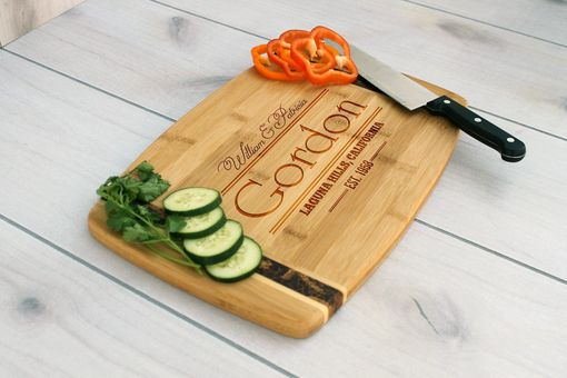 Custom Made Personalized Cutting Board, Engraved Cutting Board, Custom Wedding Gift – Cb-Bamm-Gordon
